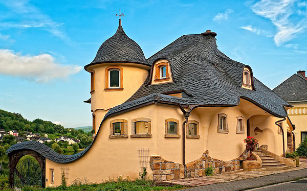 House in Zell on the Mosel River, Germany