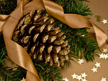1. more-budget-Christmas-decorations-02-gold-pinecones-sl