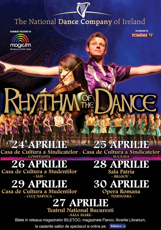 Afis RHYTHM OF THE DANCE - turneu national