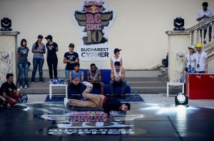 Bboy China performs at the Red Bull BC One Bucharest Cypher in Bucharest, Romania on June 16th, 2013