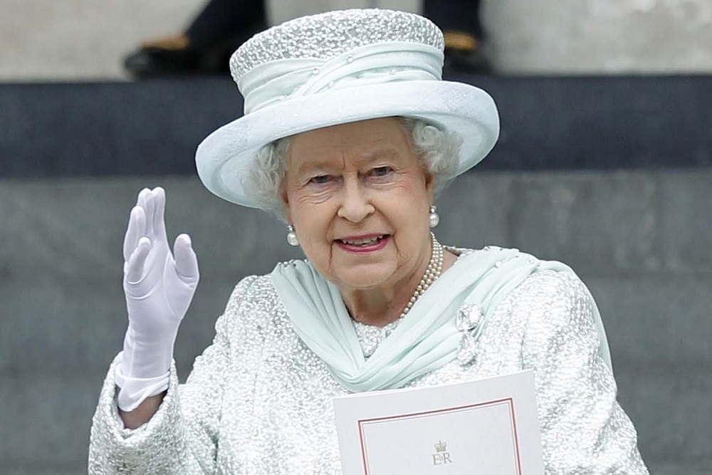 Britain's Queen Elizabeth II waves as sh