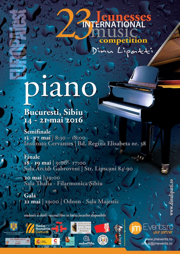 Jeunesses International Piano Competition Dinu Lipatti